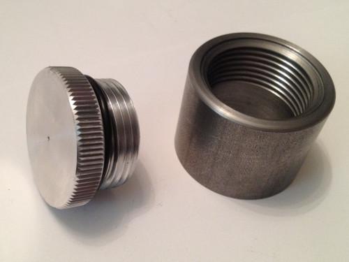 tall weld in aluminum filler cap an bung