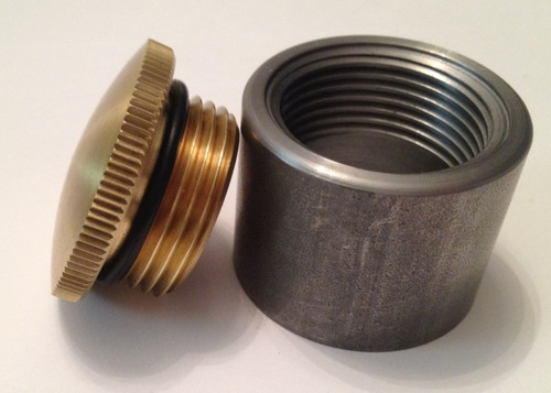 weld in brass filler neck cap and tall steel bung