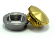 brass weld in filler cap and bung non vented for oil tanks