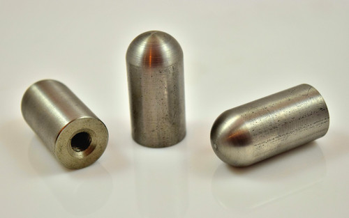 "stainless threaded bullet weld on mounting bung 1/4"" 5/16"" 3/8"""