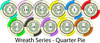 Wreath Series custom poker chips all colors