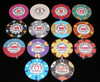 Horseshoe series poker chips all denominations
