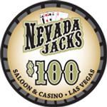 Nevada Jacks Saloon Series $100 chip