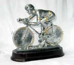 Cycling trophy - resin bicycle race award
