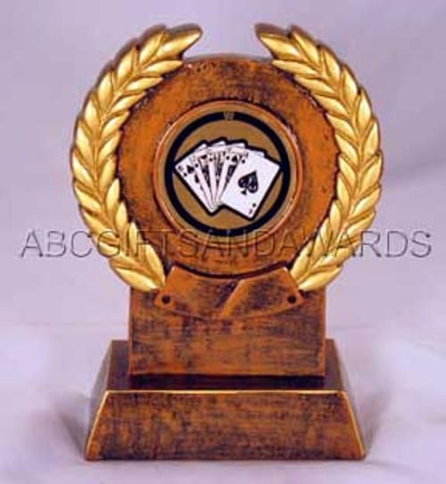 Poker Trophy - resin wreath