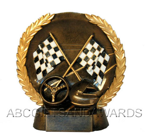 Racing Trophy - Round Resin award