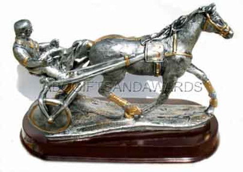 huge harness racing trophy sculpture