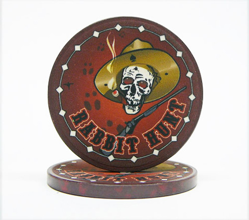 Nevada Jack Rabbit Hunt Poker Chip
