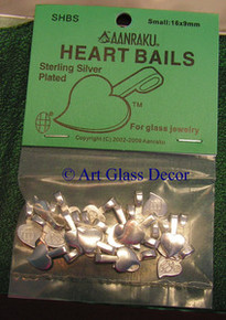 Aanraku ® Silver-plated Heart Bail, Small