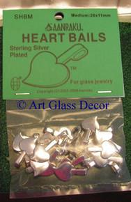 Aanraku ® Silver-plated Heart Bail, Medium