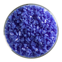 Bullseye Glass Cobalt Blue Opal, Frit, Coarse, 5 oz jar 000114-0003-F-OZ05