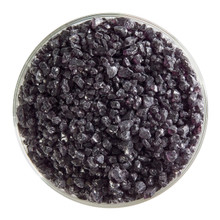 Bullseye Glass Charcoal Gray Transparent, Frit, Coarse, 5 oz jar 001129-0003-F-OZ05