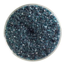 Bullseye Glass Aquamarine Blue Transparent, Frit, Medium, 1 lb jar 001108-0002-F-P001