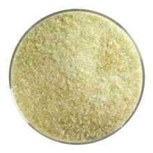 Bullseye Glass Chartreuse Transparent, Frit, Fine, 1 lb jar 001126-0001-F-P001