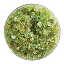 Bullseye Glass Chartreuse Transparent, Frit, Coarse, 1 lb jar 001126-0003-F-P001