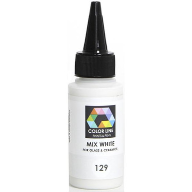 Mixing White #129  Add this to any of the other colors for a strong lightening effect without changing the density of the color.
