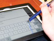 Stylus Pen in use