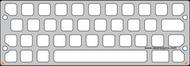 Strap-mounted half screen