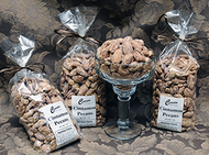 Our finest roasted pecans dusted with cinnamon and sugar, oh so nice! These pecans are so good that you'll save the sweet cinnamon crumbs to sprinkle over ice cream! 1lb. Bag