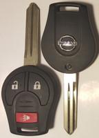 Nissan 3 button Smart remote head key OEM 2005-2016 NV1500 NV2500,NV3500,Frontier Armada Cube Juke Murano Rogue Titan Sentra Versa Quest Infiniti FX35 FX45