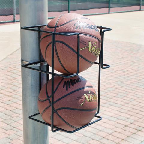 Basketball Butler Ball Holder Wall or Post Mount 2 Ball