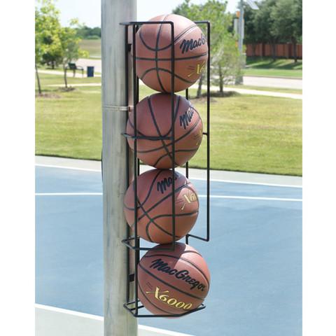 Basketball Butler Ball Holder Wall or Post Mount 4 Ball