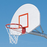 MacGregor Double Rim Extra-Tough Playground Basketball System with Aluminum Backboard 5' Ext