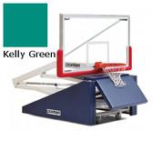 Dark Green Indoor Portable Porter 735 Adjustable Height Basketball System