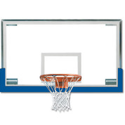 Royal Spalding Superglass Collegiate and High School Basketball Backboard and Goal Package