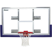 Bison Tall Unbreakable Glass Fan to Rectangle Conversion Basketball Backboard