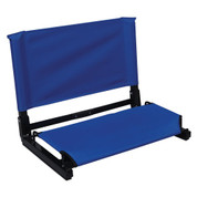 Navy Portable Patented Stadium Chair Stadium Bleacher Seat with Back Support