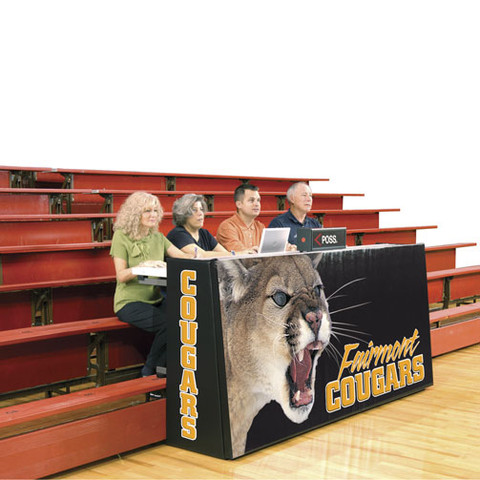 Bison Sport Pride Basketball Scorers Foldable Table Space Saver Bleacher Model