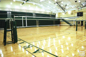 OmniSteel Collegiate Steel Telescopic One-Court Volleyball Net System