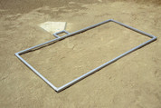 Softball Batters Box Layout Template for Chalking - 3' x 5.5' by Stackhouse