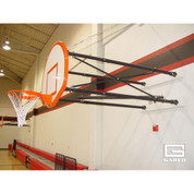 Four Point Side Fold Wall Mount Basketball Goal 4ft to 6ft Extension - Gared Sports 2500-4064