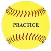 12'' Yellow Practice Softball