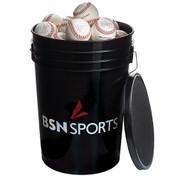 BSN SPORTS Bucket w/3 dz BSOLB Baseballs