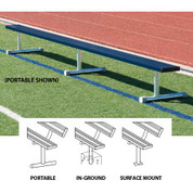 15' Permanent Bench w/o back (colored) - Blue