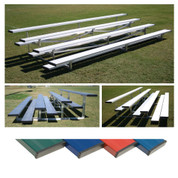 4 Row 7.5' Low Rise Bleacher - Colored - Blue