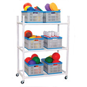 Carry-All Cart with Three Tiers and Removable Baskets