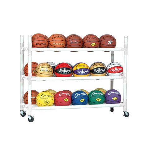 Heavy-Duty Cart for up to 30 Basketballs