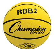 Champion Sports Junior Size Pro Rubber Basketball - Yellow