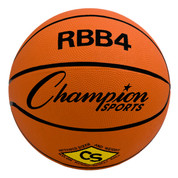 Champion Sports Intermediate Size Pro Rubber Basketball - Orange
