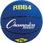 Champion Sports Intermediate Size Pro Rubber Basketball - Blue