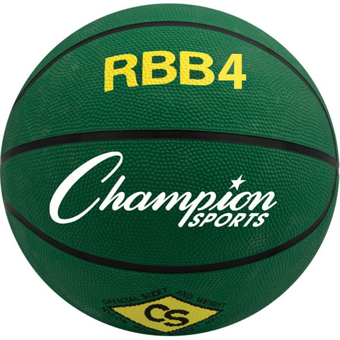 Champion Sports Intermediate Size Pro Rubber Basketball - Green