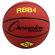 Champion Sports Intermediate Size Pro Rubber Basketball - Red