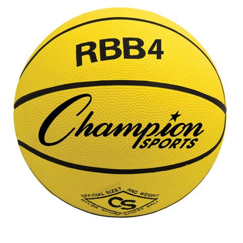 Champion Sports Intermediate Size Pro Rubber Basketball - Yellow