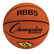 Champion Sports Mini Size Pro Rubber Basketball - Orange