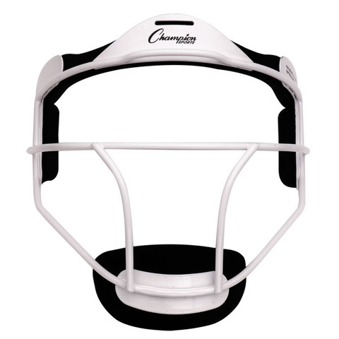 White Adult Softball Fielder's Face Mask