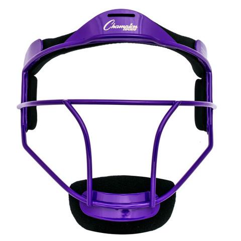 Purple Adult Softball Fielder's Face Mask